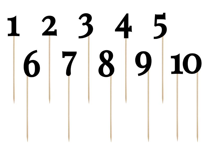 Skaičiai-smeigtukai, juodi (25 cm/11 vnt.)