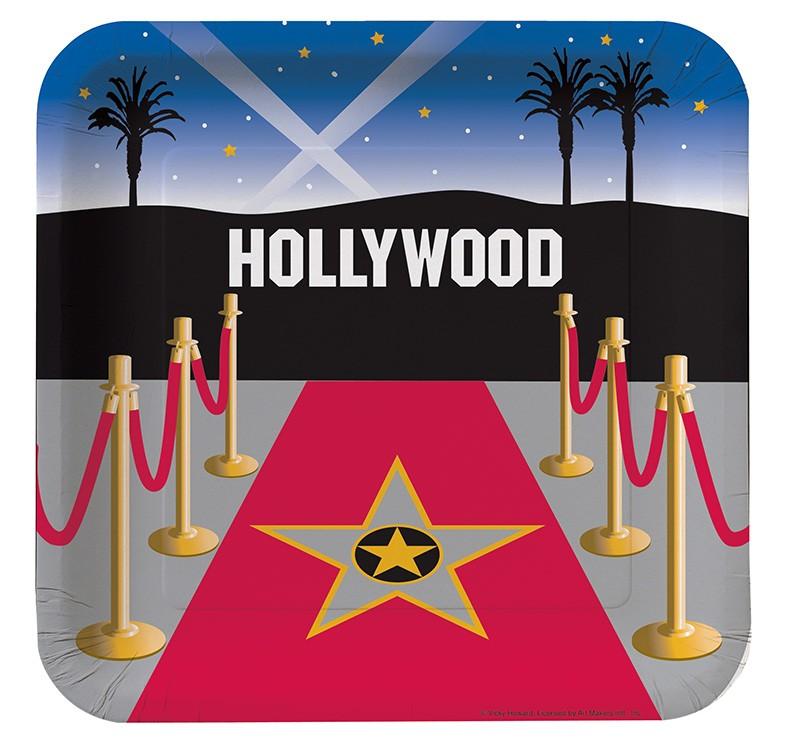 """Lėkštutės """"Holivudas"""" (8 vnt./23 cm)"""