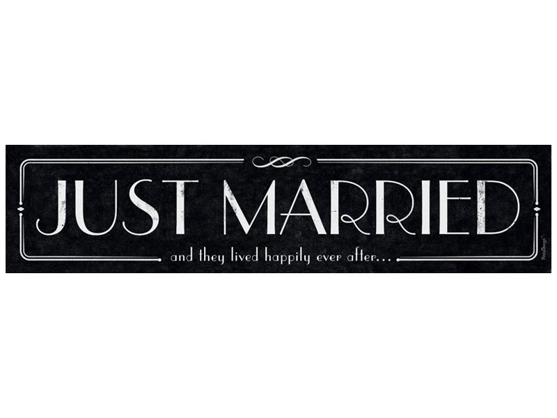 """Automobilio numeriai """"Just Married"""" (1 vnt.)"""
