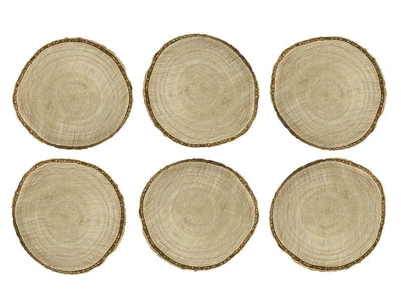 Mediniai padėkliukai (6 vnt.)