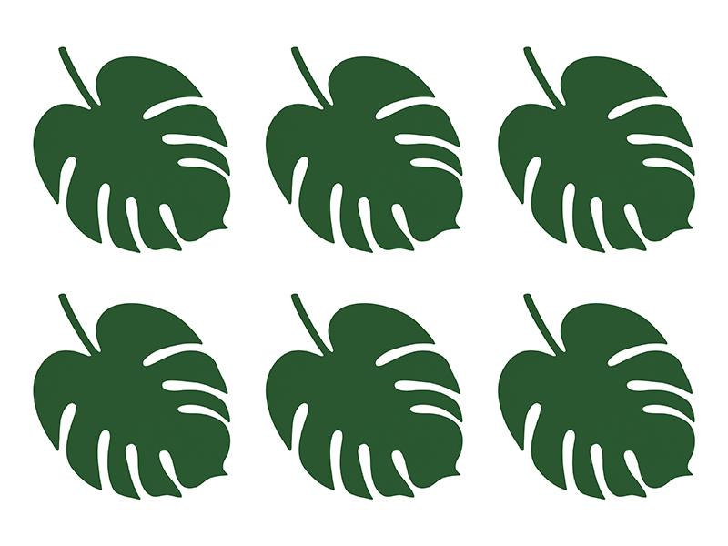 """Padėkliukai """"Palmės lapas"""" (6 vnt.)"""