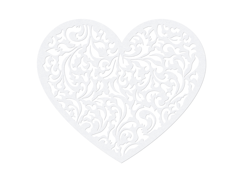 "Dekoracijos-karpiniai ""Širdelės"" (10 vnt.)"