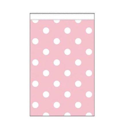 Mini dovanų maišeliai, rožiniai taškuoti (20 vnt.)
