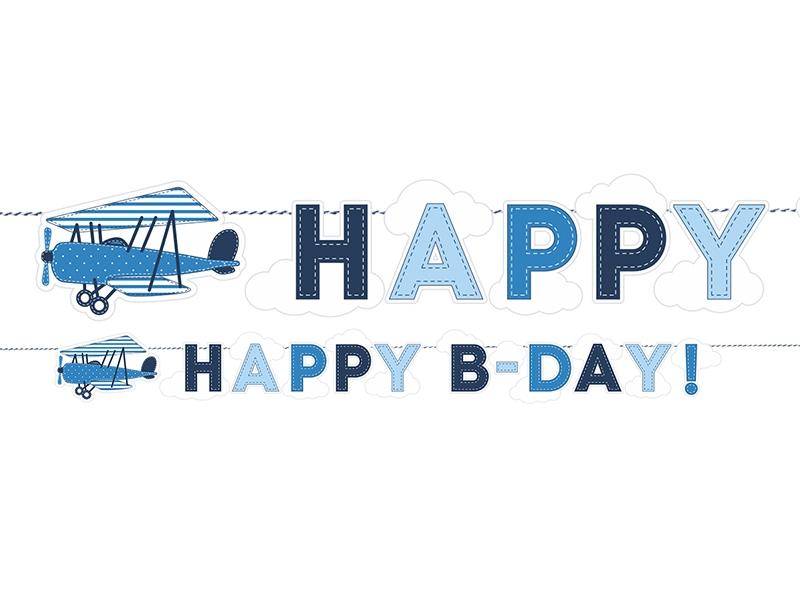 "Girlianda ""Lėktuvėliai.Happy Birthday"" (1,7 m)"
