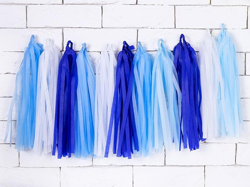 Kutosų girlianda, mėlynai balta (1,5 m)
