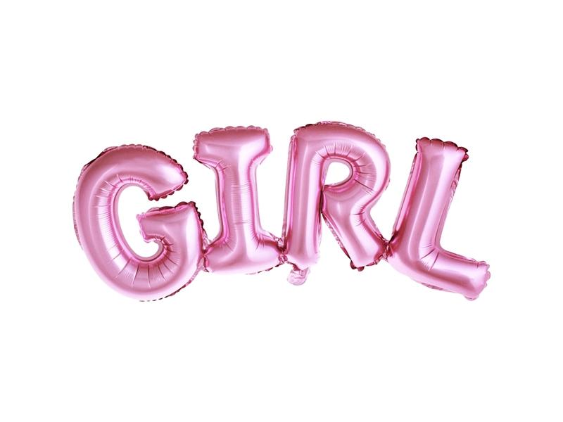 """Folinis balionas """"Girl"""", rožinis  (74x33cm)"""