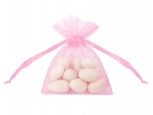 Organzos maišelis, rožinis (7,5x10 cm)