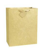 Dovanų krepšelis, auksinis blizgus didelis