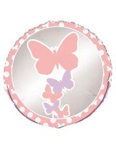 """Folinis balionas """"Pasteliniai drugeliai"""" (45 cm)"""
