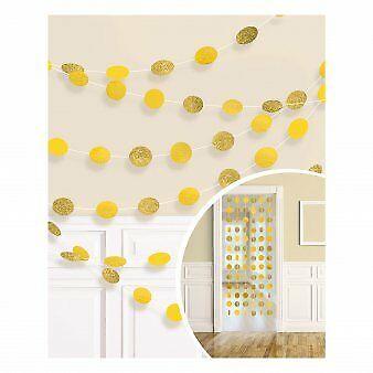 Kabančios dekoracijos, blizgios geltonos (6 vnt./2,13 m)