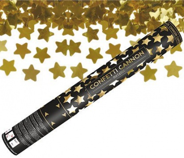 "Konfeti patranka ""Aukso žvaigždės"" (40 cm)"
