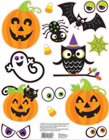 """Lango dekoracijos-lipdukai """"Helovino draugai"""""""