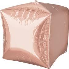 """Folinis balionas """"Rožinio aukso  kubas"""" (38 cm)"""