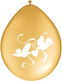 """Balionai """"Auksiniai balandžiai"""" (10 vnt./28 cm)"""