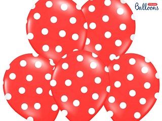 Balionas, taškuotai raudonas (30 cm)