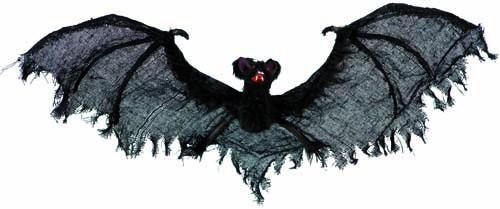 """Dekoracija """"Medžiaginis šikšnosparnis"""" (63 cm)"""