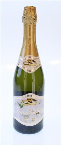 """Etiketės buteliams""""Jaunavedžių Šampanas"""" (10 vnt.)"""