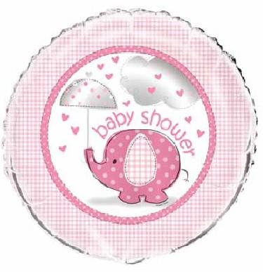 """Folinis balionas """"Baby shower/mergaitė"""" (45cm.)"""