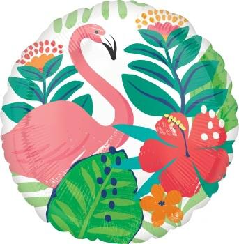 """Folinis balionas """"Flamingas gėlėse"""" (43 cm)"""