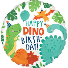"Folinis balionas ""Happy Dino-birthday"" (43cm)"