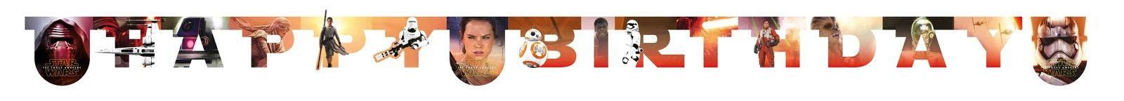 "Girlianda ""Star Wars.Happy Birthday"" (2,1 m.)"