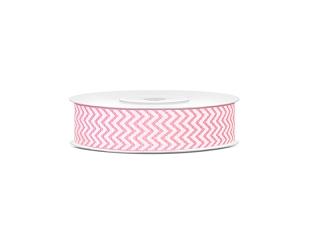 Juostelė, rožinis zigzagas (18 mm/10 m)