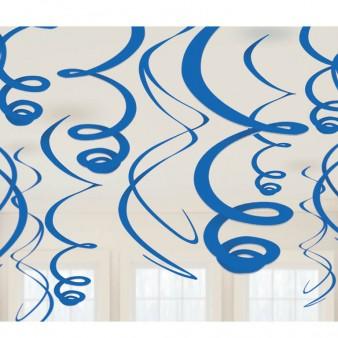Kabančios dekoracijos-suktukai, mėlynos (12 vnt./ 55 cm)