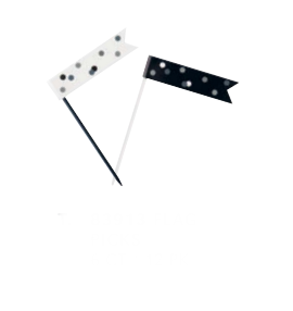 Smeigtukai-vėliavėlės, juodos pilkos (6 vnt.)
