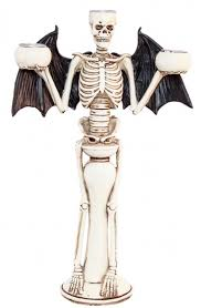 """Žvakidė """"Skeletas-šikšnosparnis"""" (31 cm)"""