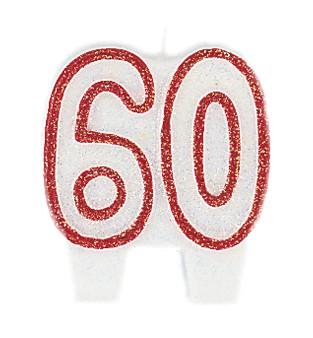 """Žvakutė """"60"""" (5,5 cm)"""
