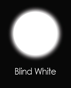 """Akių lęšiai """"BLIND WHITE"""" (90 dienų)"""