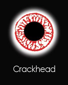 """Akių lęšiai """"CRACKHEAD"""" (90 dienų)"""