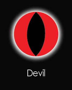 """Akių lęšiai """"DEVIL"""" (1 dienos)"""