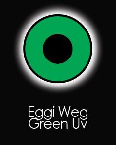 """Akių lęšiai """"EGGY WEG GREEN UV"""" (90 dienų)"""
