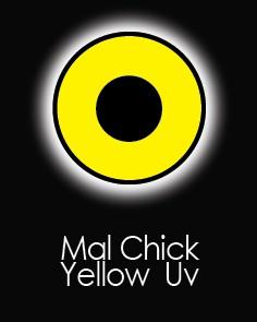 """Akių lęšiai """"MAL CHICK YELLOW UV"""" (90 dienų)"""