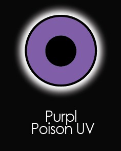 """Akių lęšiai """"PURPLE POISON"""" UV (90 dienų)"""