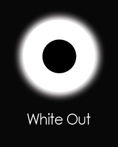 """Akių lęšiai """"WHITE OUT"""" (1 dienos)"""