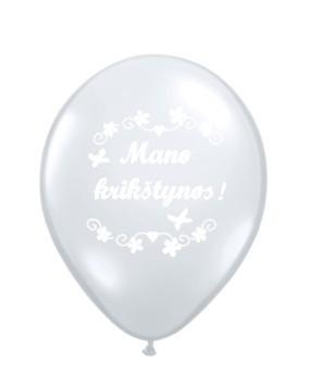 """Balionai """"Mano krikštynos"""" / balti (10 vnt./28cm.)"""