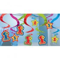 """Dekoracijų rinkinys """"1-asis gimtadienis"""" (15 vnt./60  cm)"""
