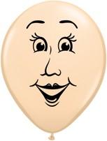 """Balionai """"Moters veidas"""" / kūno spalvos (100vnt./13cm. Q5)"""