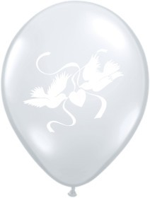 "Balionai, balti ""Balandžiai""  (100 vnt./30cm.)"