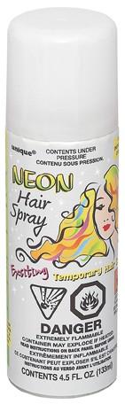 Neoninis plaukų lakas / baltas (1 vnt./133 ml.)
