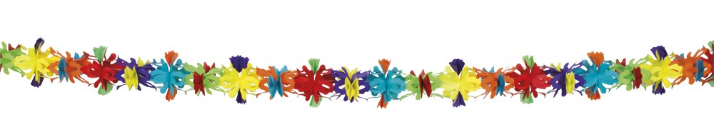 Popierinė gėlių girlianda (4 m.)