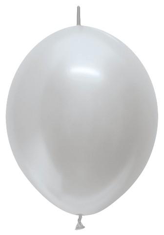 Dekoravimo balionai, sidabriniai (100vnt./29cm.)
