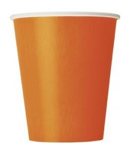 Vienkartiniai puodeliai / oranžiniai (8vnt./270 ml.)