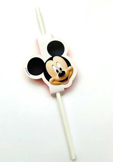 """Popieriniai šiaudeliai """"Peliukas Mikis"""" (4 vnt.)"""
