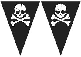 """Vėliavėlių girlianda """"Kaukolės"""" (9 vėliavėlės)"""