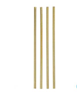 Žvakutės, plonos spragsinčios auksinės (18 vnt.)